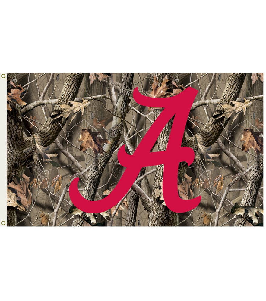 Alabama Crimson Tide Realtree Camo 3 x 5 Flag