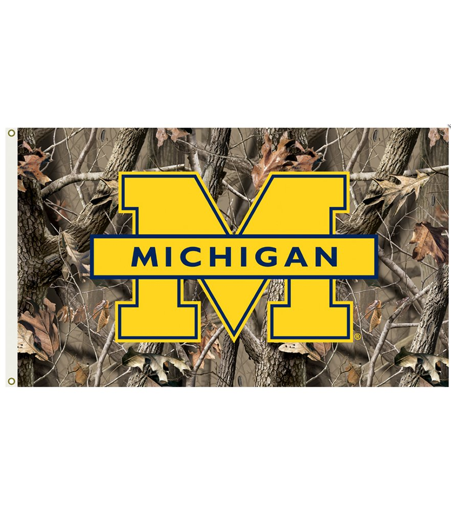 Michigan Wolverines Realtree Camo 3 x 5 Flag