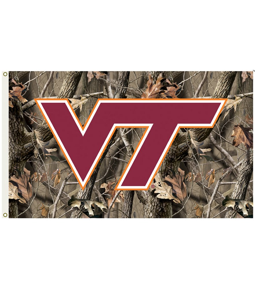 Virginia Tech Hokies Realtree Camo 3 x 5 Flag