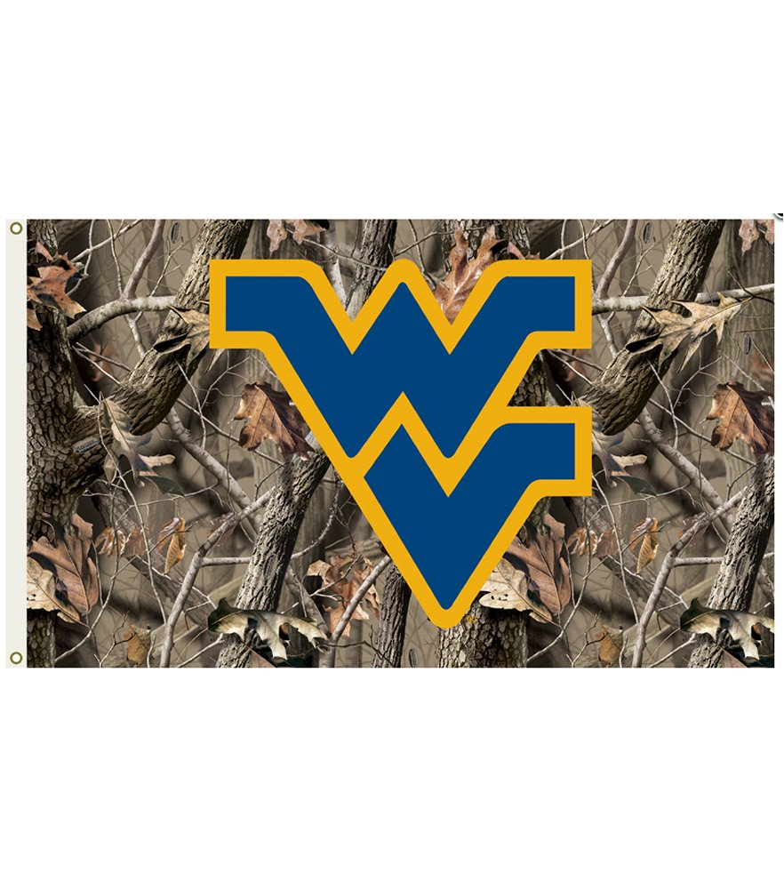 West Virginia Mountaineers Realtree Camo 3 x 5 Flag