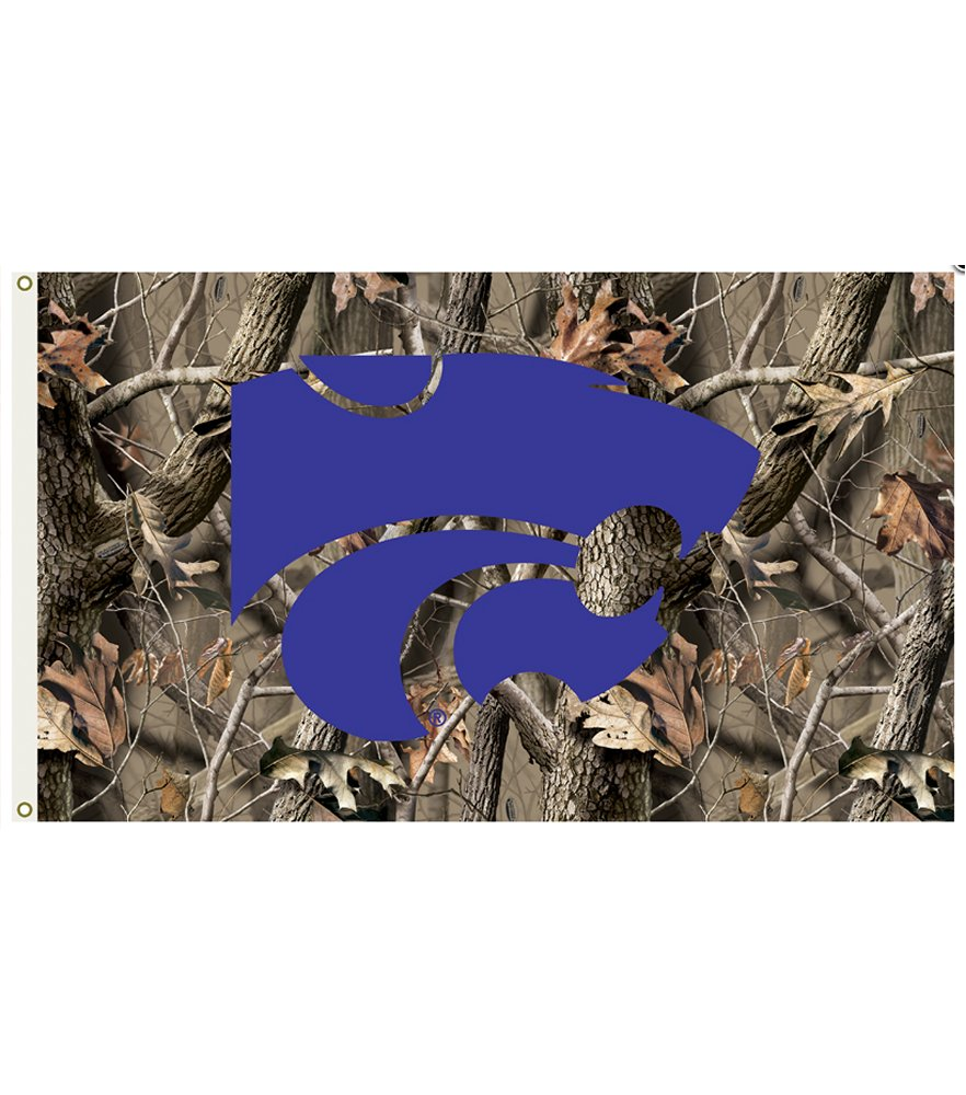 Kansas State Wildcats Realtree Camo 3 x 5 Flag