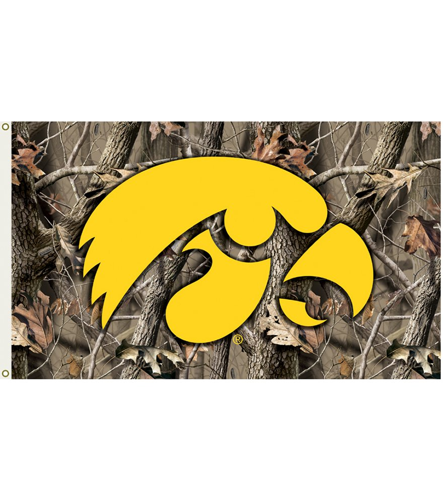Iowa Hawkeyes Realtree Camo 3 x 5 Flag