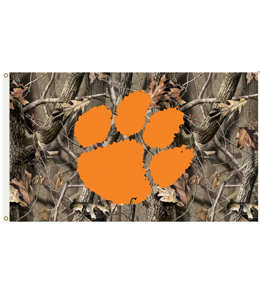 Clemson Tigers  Realtree Camo 3 x 5 Flag