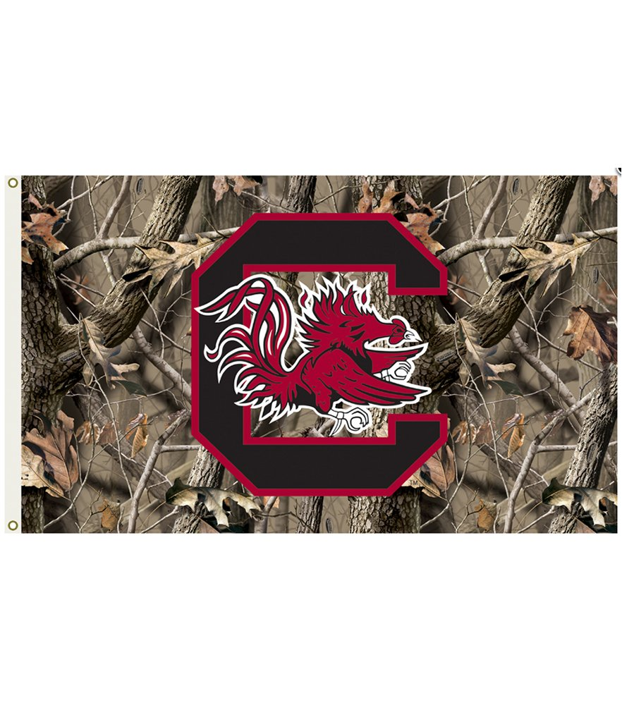 South Carolina Gamecocks Realtree Camo 3 x 5 Flag