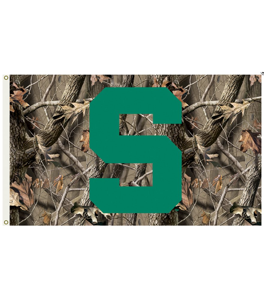 Michigan State Spartans Realtree Camo 3 x 5 Flag