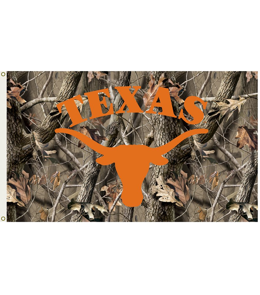 Texas Longhorns Realtree Camo 3 x 5 Flag