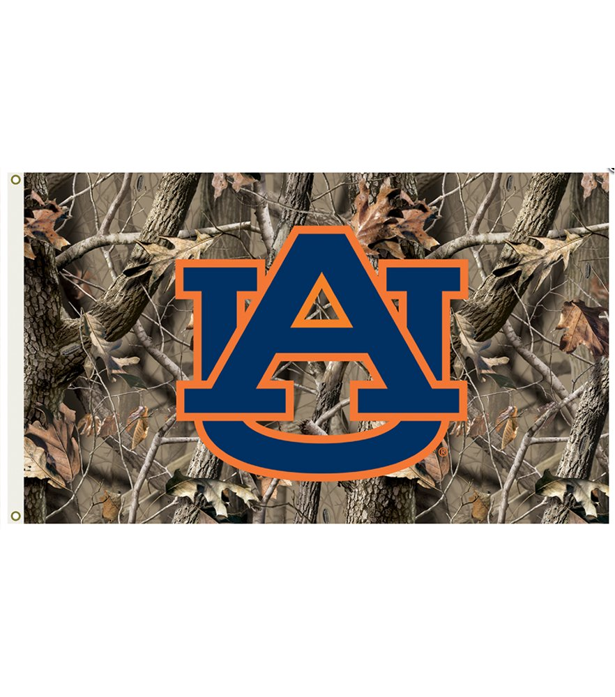 Auburn Tigers Realtree Camo 3 x 5 Flag