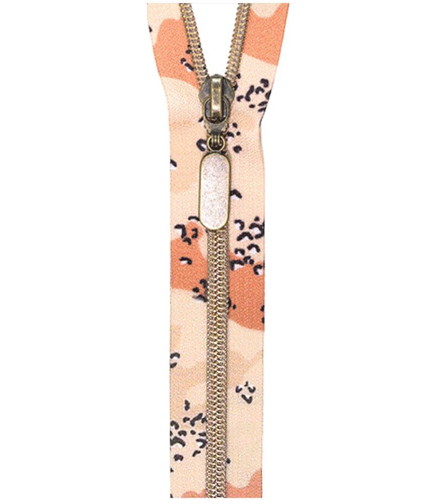 Desert Camo Nylon Coil Zipper 18