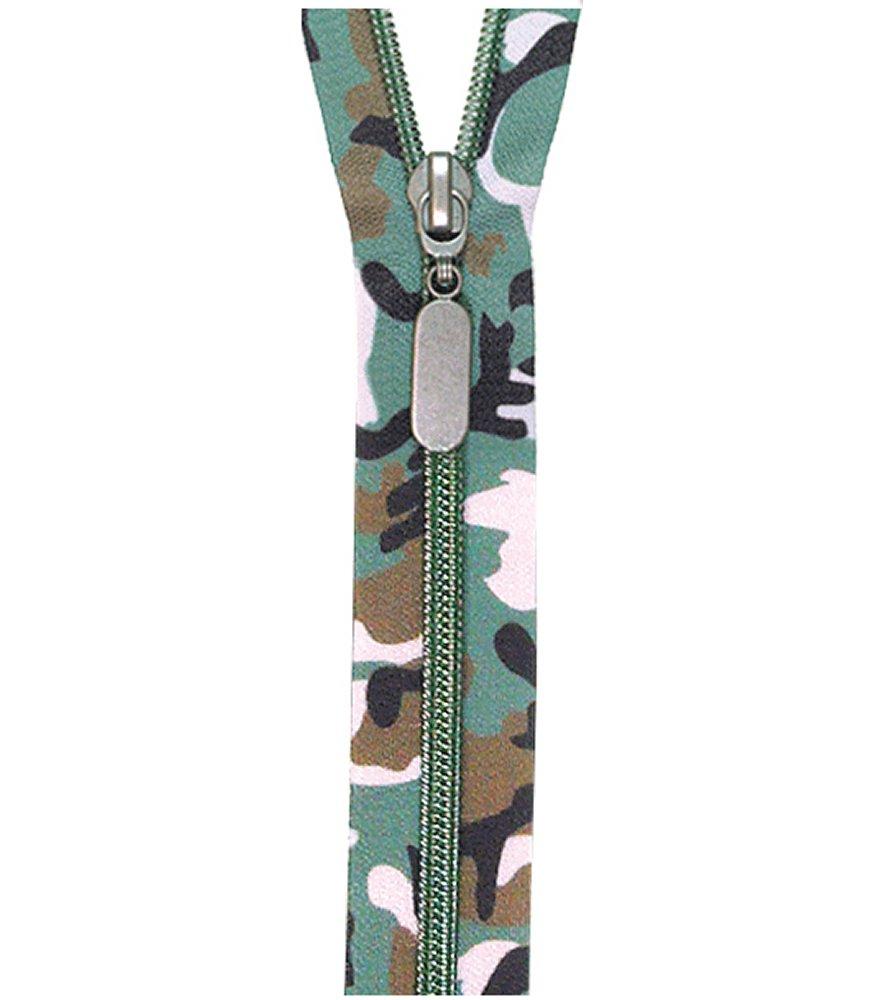 Forest Camo Nylon Coil Zipper 24