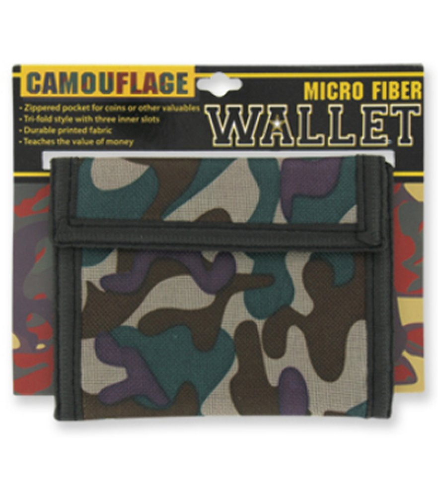 Camouflage Micro Fiber Wallet