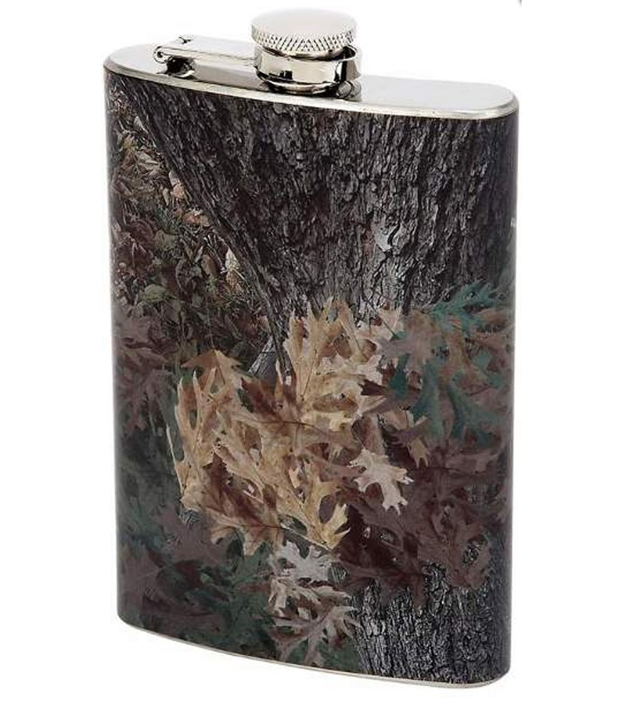 8oz Stainless Steel Flask with Camouflage Wrap