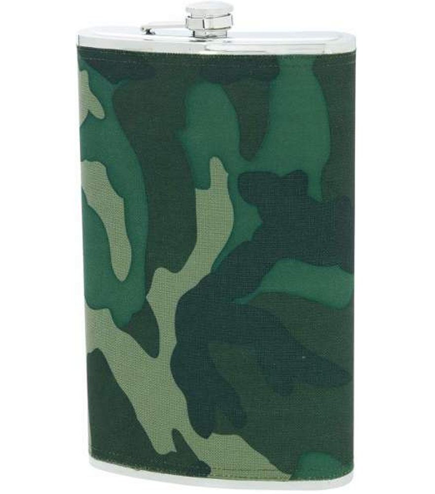 64oz Jumbo Stainless Steel Camo Wrap Flask