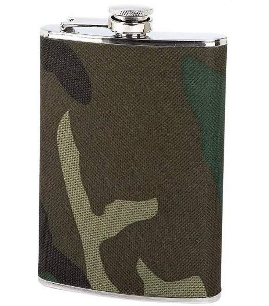Maxam 8oz S/S Flask with Camouflage Wrap