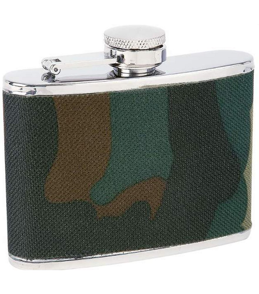 Maxam 4oz S/S Flask with Camouflage Wrap