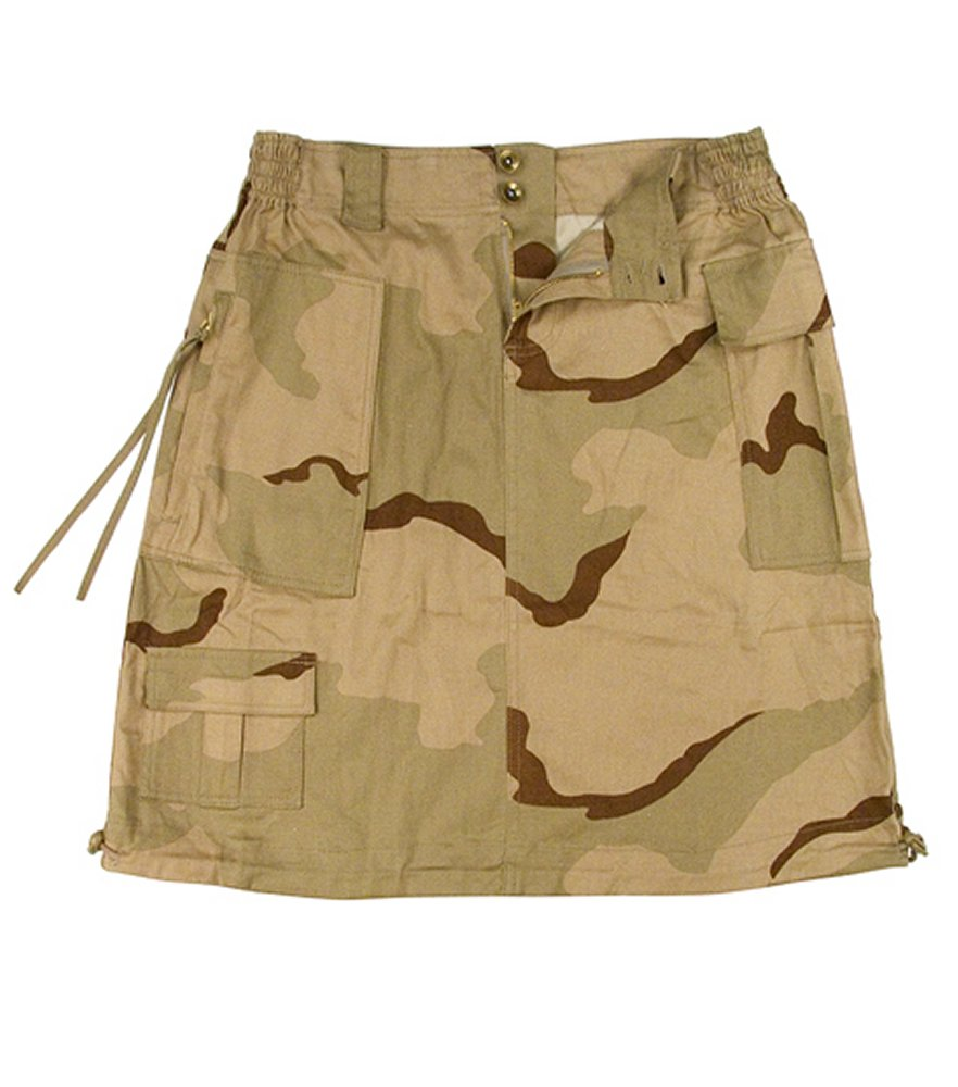 Womens Tricolor Camo Knee Length Skirt