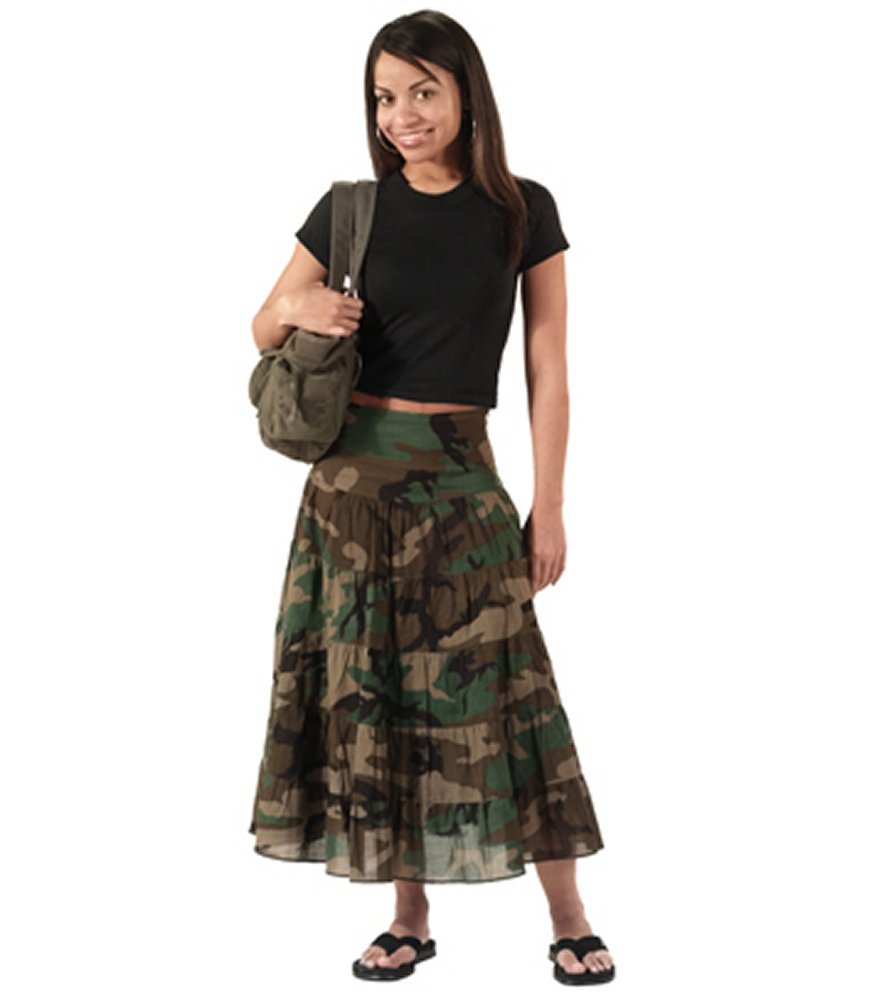 Womens Woodland Camo Gauze Skirt