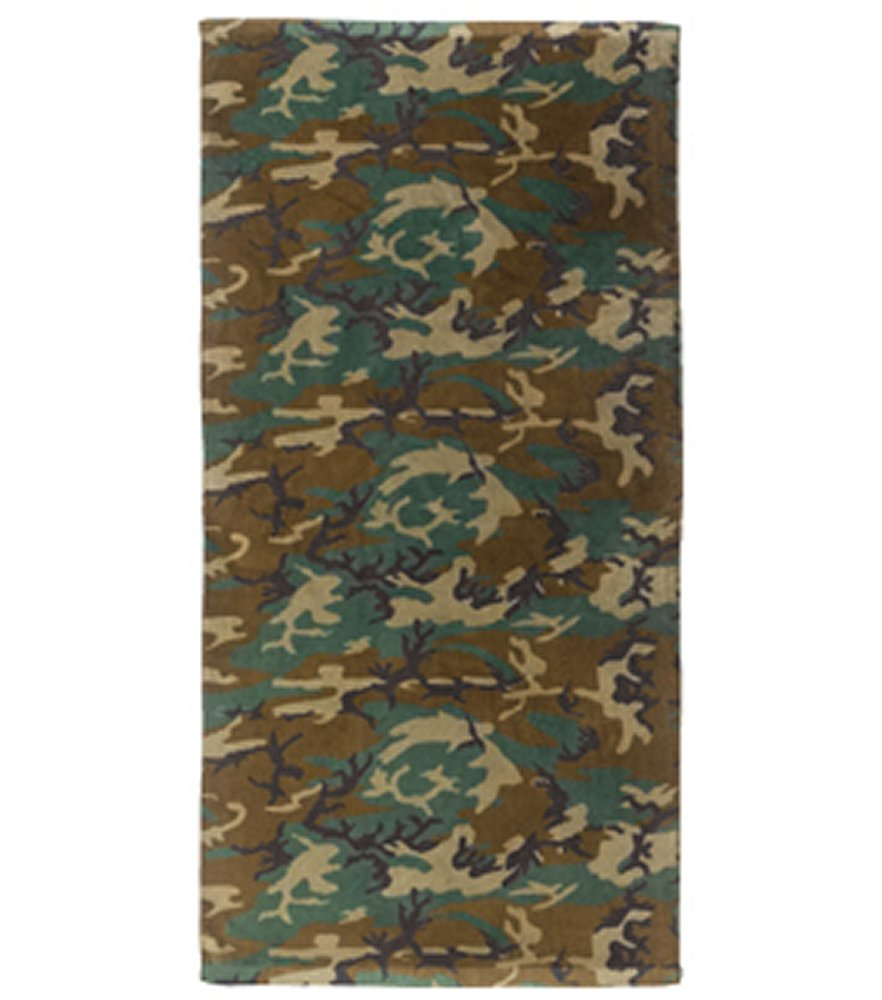 Woodland Camo Beach Towel