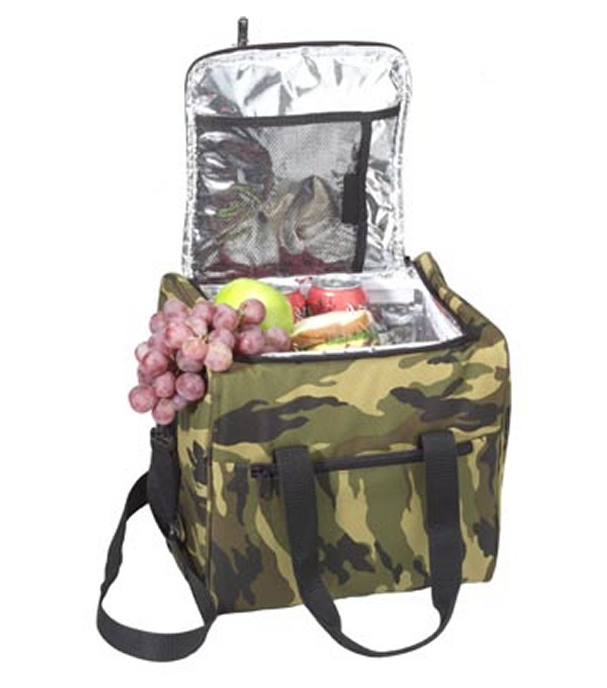 Large Camo Insulated Bag