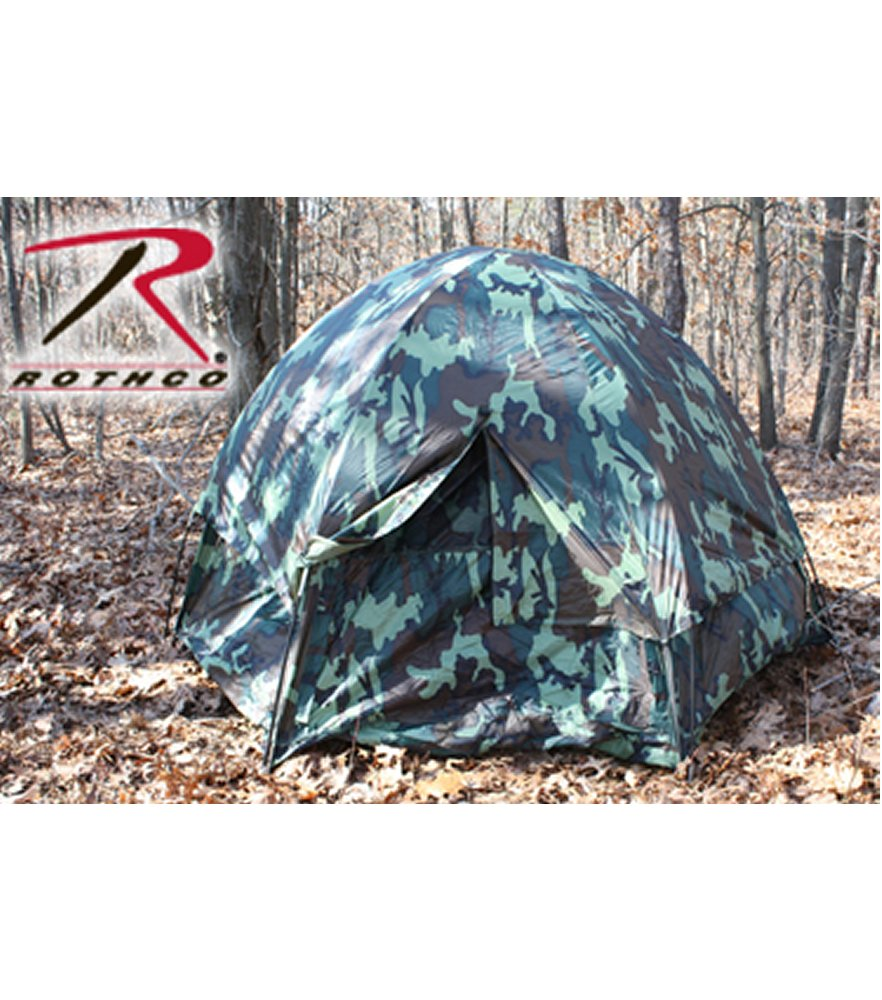Woodland Camo 3 Man Hexagon Dome Tent