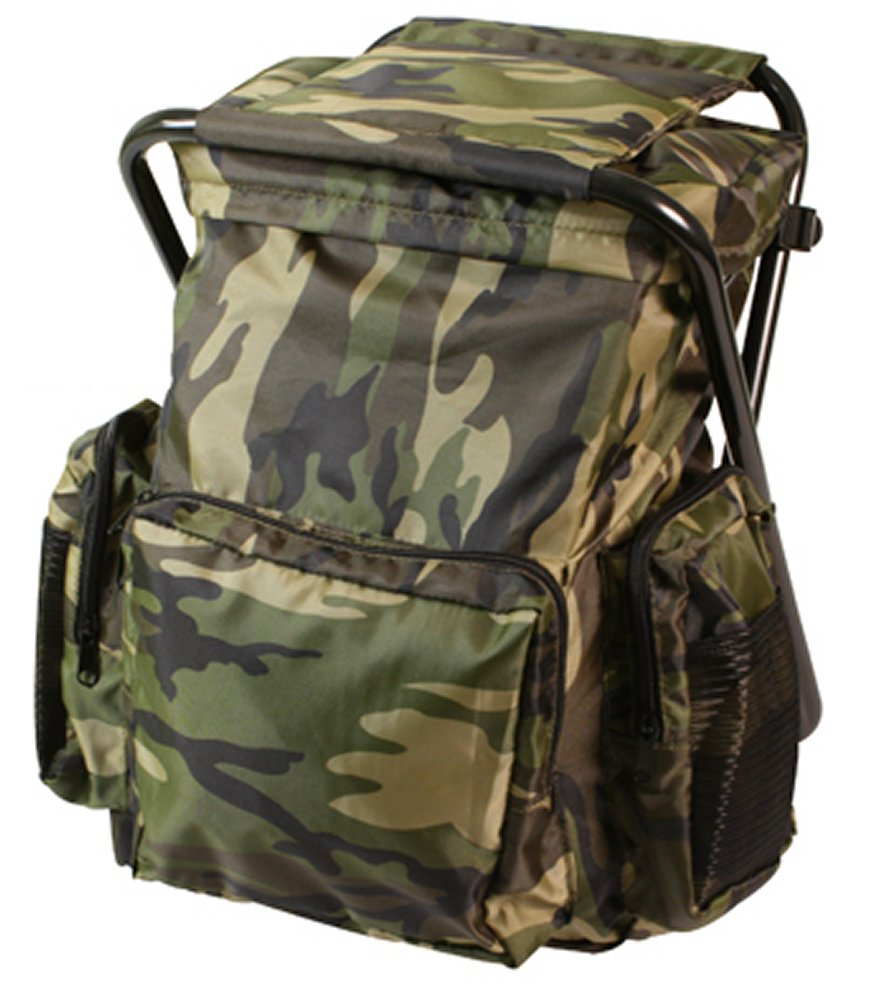 Woodland Camo Backpack & Stool Combo