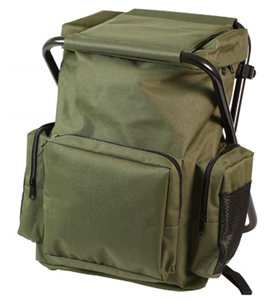 Olive Drab Backpack & Stool Combo