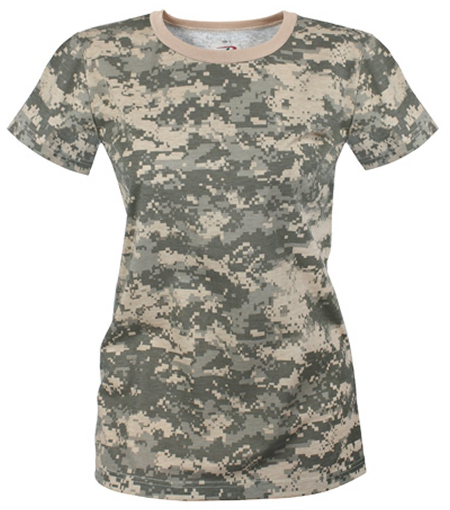 Womens Longer Length ACU Digital Camo Tshirt