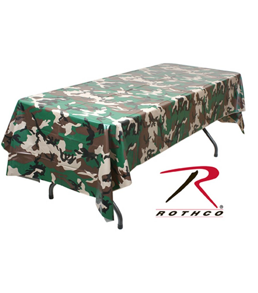 Woodland Camo Tablecloth