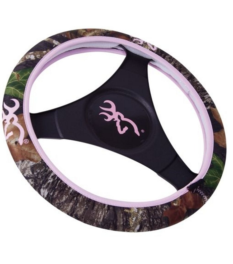 Browning Steering Wheel Cover Neoprene Pink for Her Camo