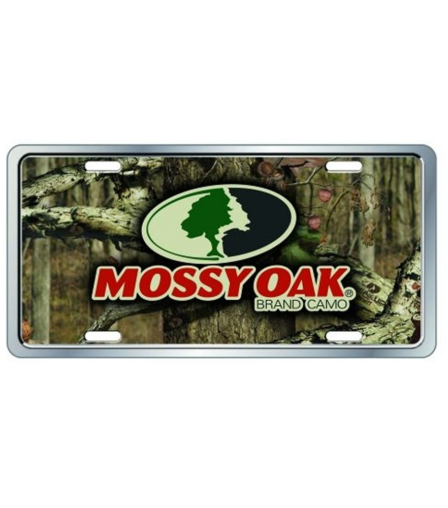 Mossy Oak Infinity Camo Plastic License Plate