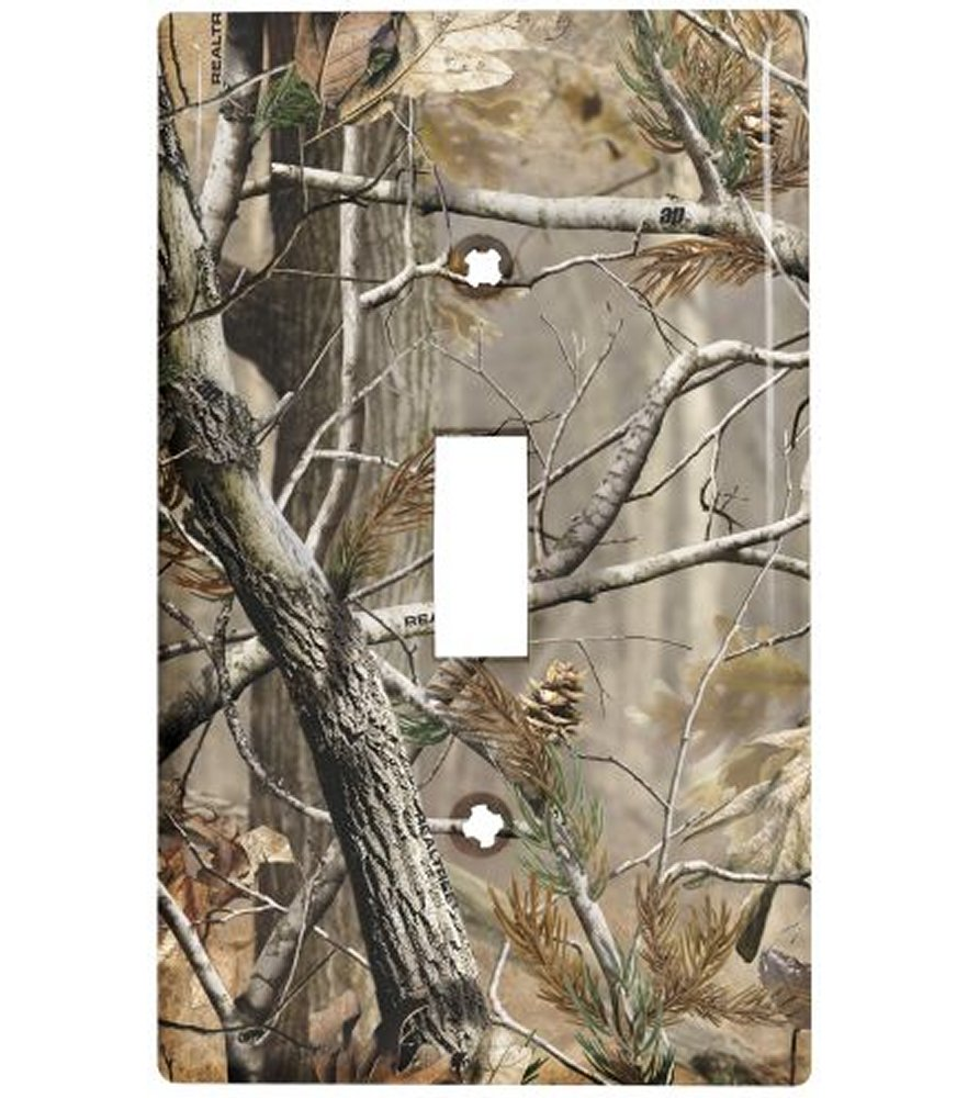 Realtree AP Camo Single Toggle Light Switch Plate