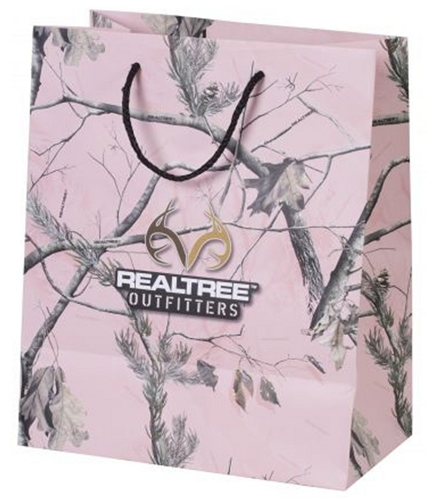 Realtree Outfitters Large Pink Gift Bag