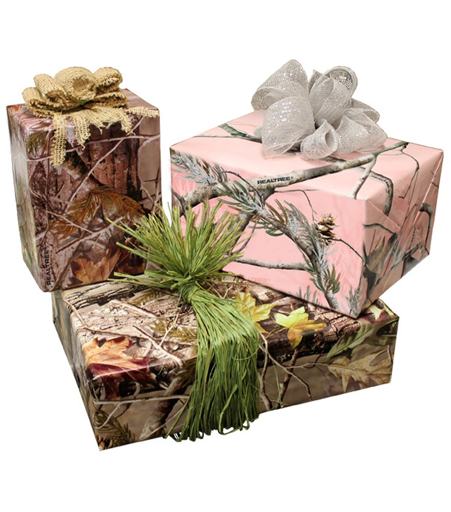 Realtree 3 Pack Wrapping Paper